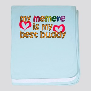 Memere is My Best Buddy baby blanket
